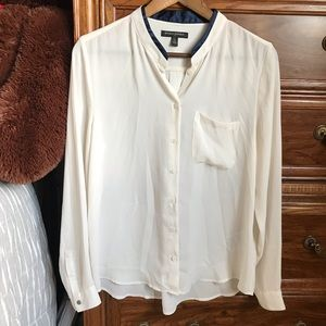 Off white work blouse
